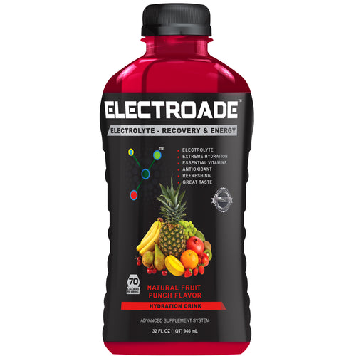 ELECTROADE Sports Hydration Drink - Fruit Punch Flavor - 32 FL Oz