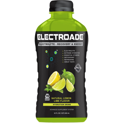 ELECTROADE Sports Hydration Drink - Lemon Lime Flavor - 32 FL Oz