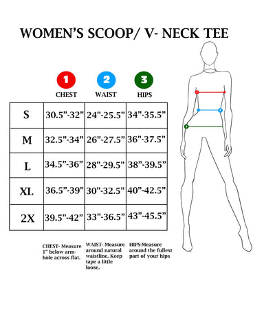 Women S Size Charts Lucky13apparel