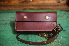The HANGMAN Genuine Latigo Leather Studded Wallet Strap