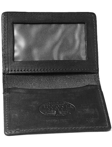 The DEATH OR GLORY Leather Card Holder Wallet - BLACK