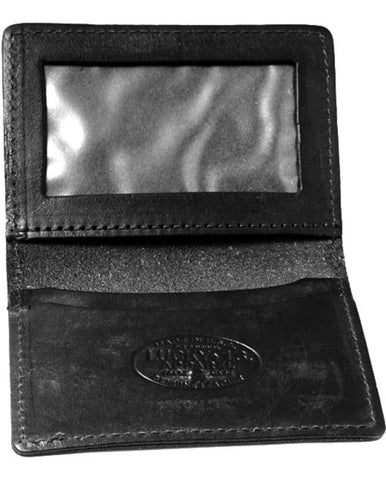 The WINGED PISTON Leather Card Holder Wallet - BLACK - A LUCKY13.COM EXCLUSIVE ITEM!