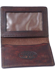 The WINGED PISTON Leather Card Holder Wallet - ANTIQUED BROWN