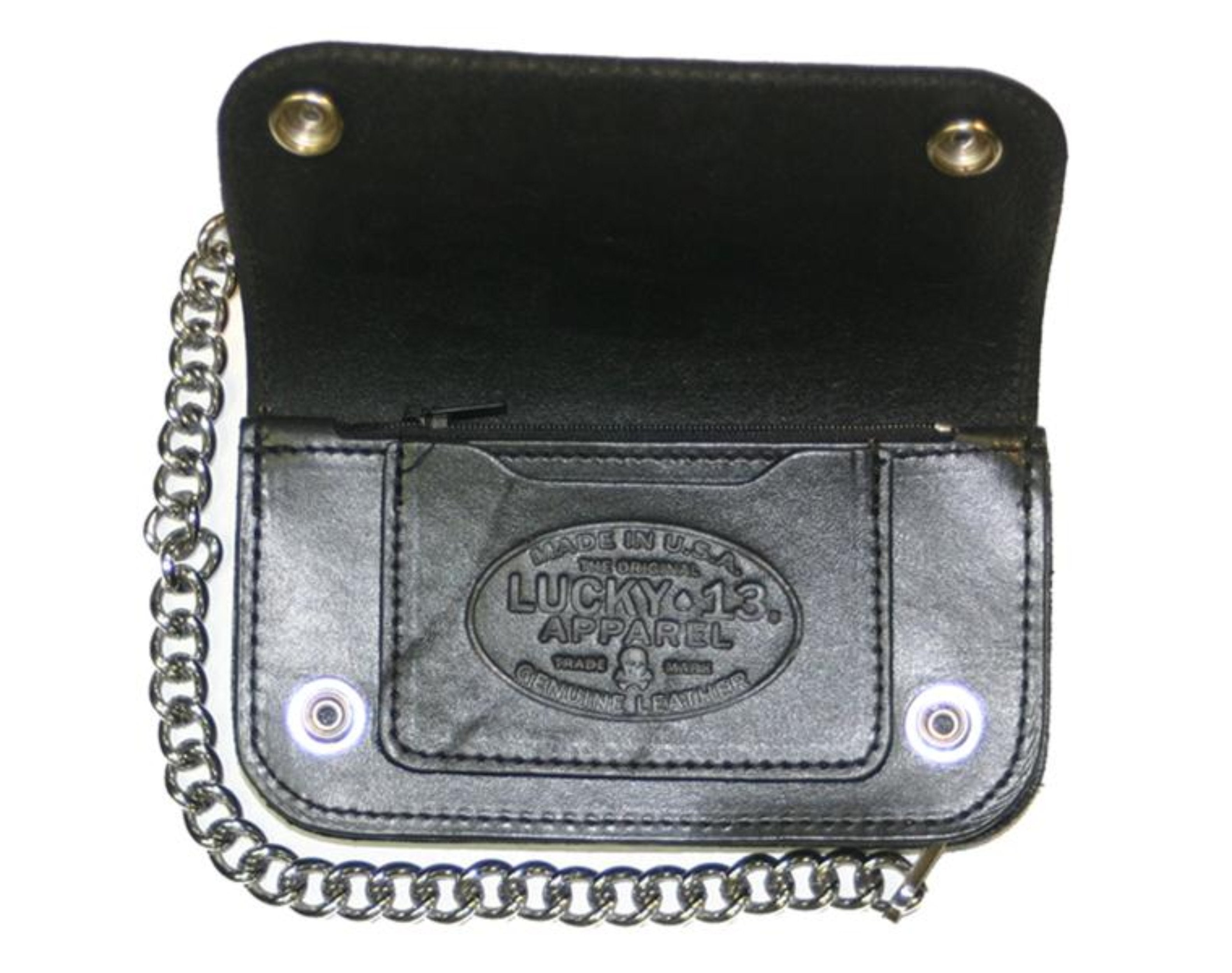 The DEATH OR GLORY Embossed Leather Wallet - BLACK