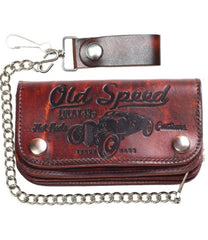 The OLD SPEED Embossed Leather Wallet
