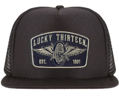 The SPEEDSTER Flat Bill Trucker Cap
