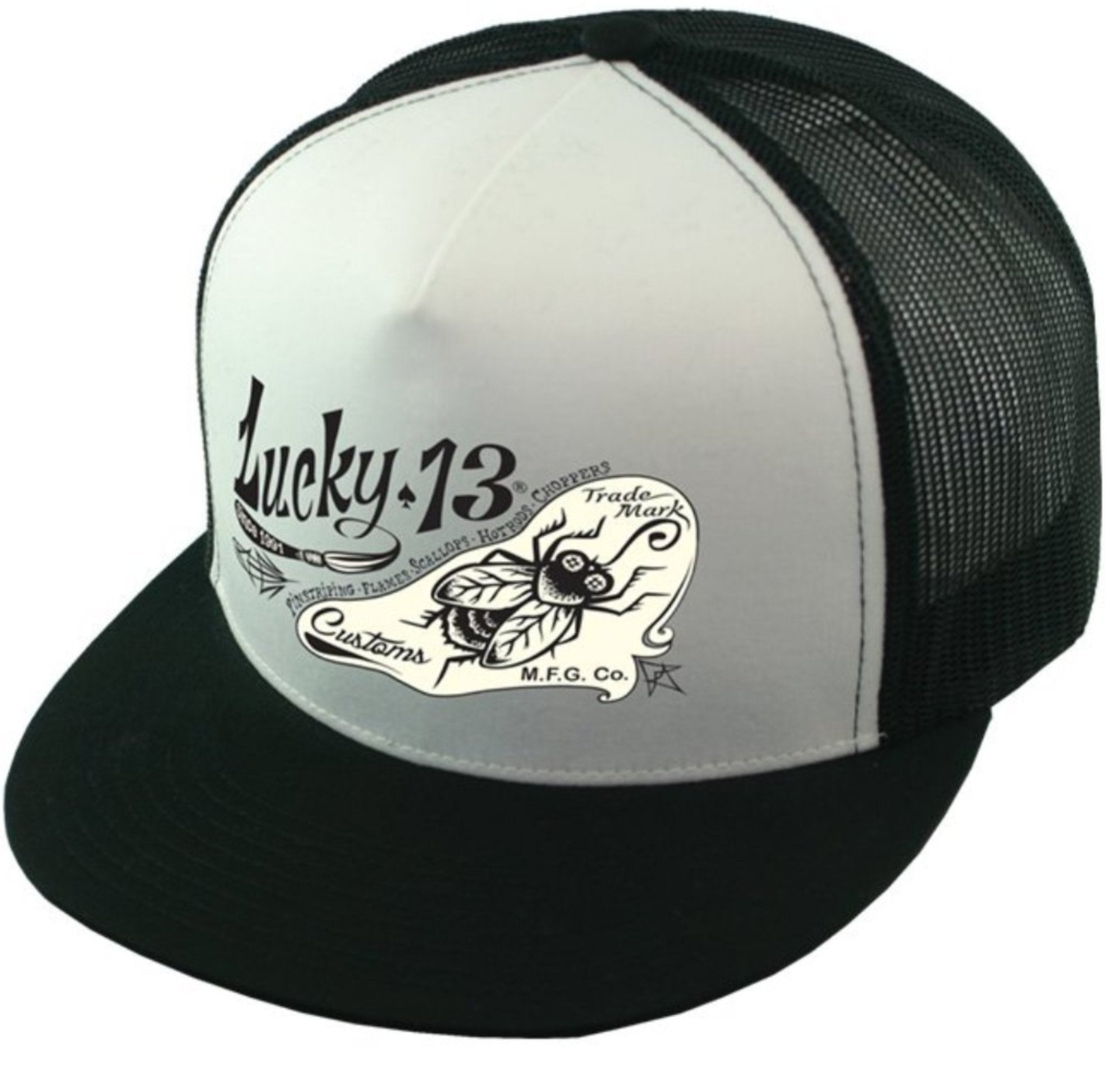 The PIN-FLY Cap - BLACK/WHITE