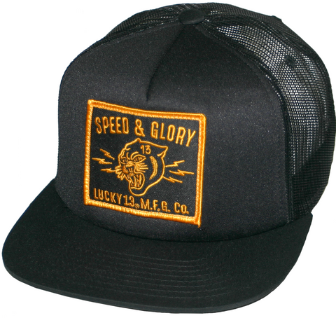 The PANTHER HEAD Trucker Cap - BLACK