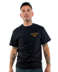 The PANTHER HEAD Tee - BLACK