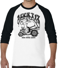 The HUMOROUS 3/4 Sleeve Raglan Tee - BLACK/WHITE