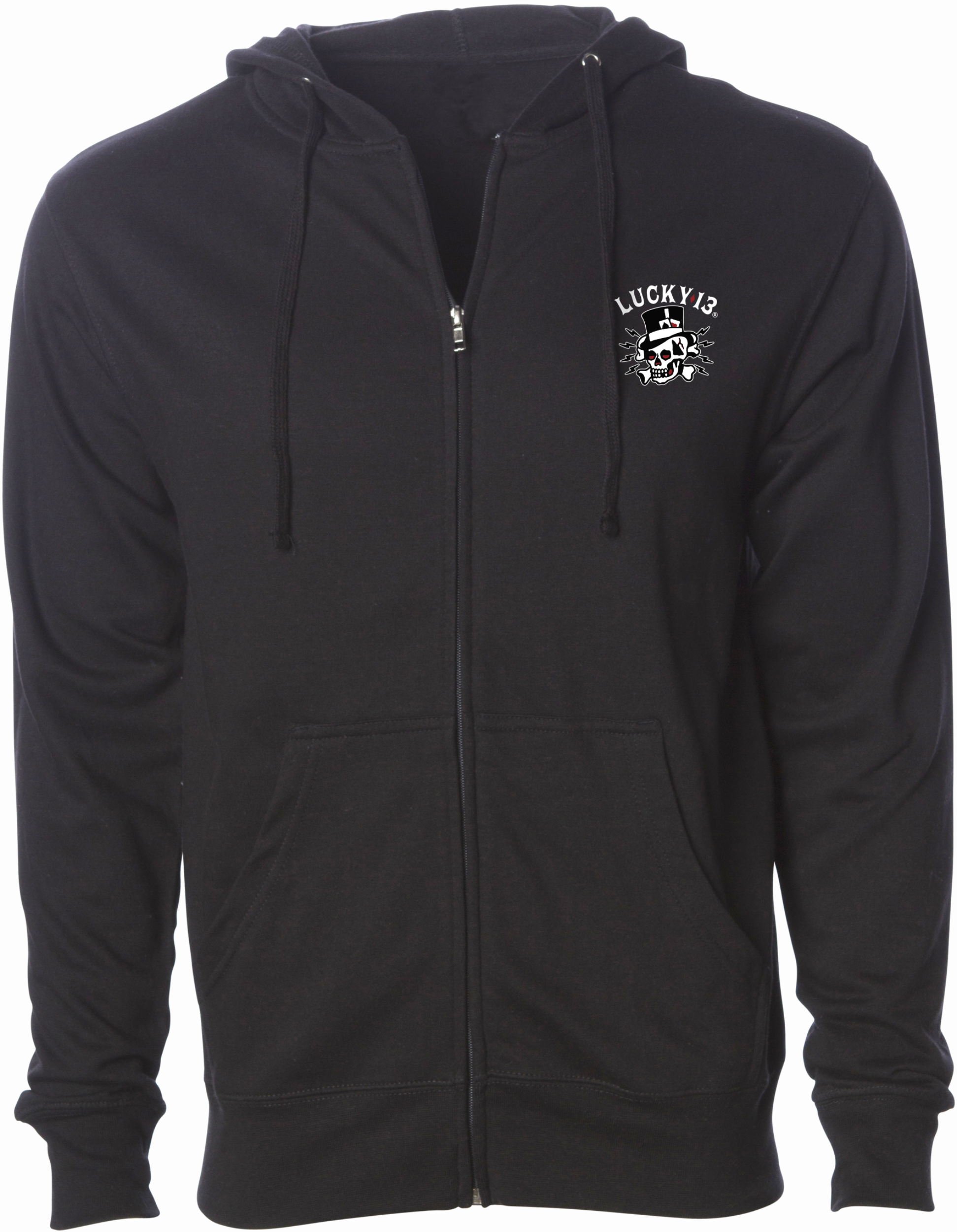 The DEATH OR GLORY Men's Full Zip Hooded Sweatshirt