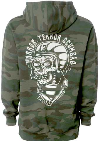The SCUMBAG Full-Zip Hooded Sweatshirt - GREEN CAMO