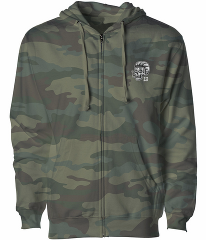 The SCUMBAG Full-Zip Hooded Sweatshirt - CAMOUFLAGE