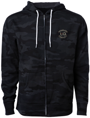 The TWIN COBRAS Full-Zip Hooded Sweatshirt - BLACK/CAMO