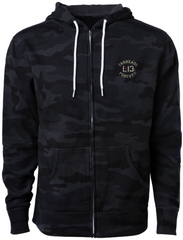 The TWIN COBRAS Full-Zip Hooded Sweatshirt - BLACK/CAMO **NEW**