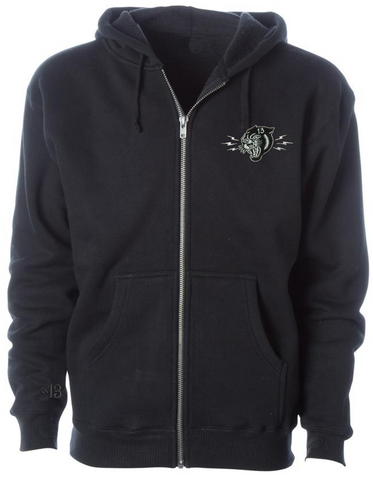 The PANTHER HEAD SUPER-HEAVYWEIGHT Zip-Up Riding Hoodie