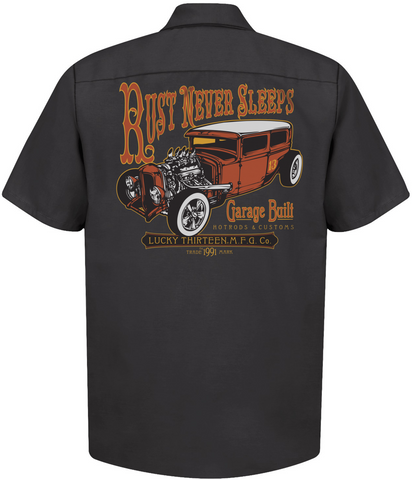 The RUST NEVER SLEEPS Work Shirt