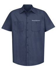 WINGED SKULLY Work Shirt - NAVY