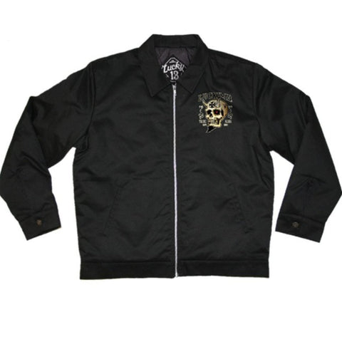 The BOOZE BIKES & BROADS Jacket - ONLY SIZE LARGE LEFT