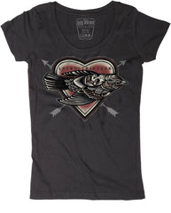 The DEAD BIRD Scoop Neck Tee