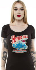 The HOT ROD GIRL Scoop Neck Tee