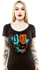 The 13 CATS Scoop Neck Tee