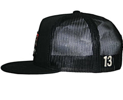 The BRICK Poplin/Mesh Trucker Cap - BLACK
