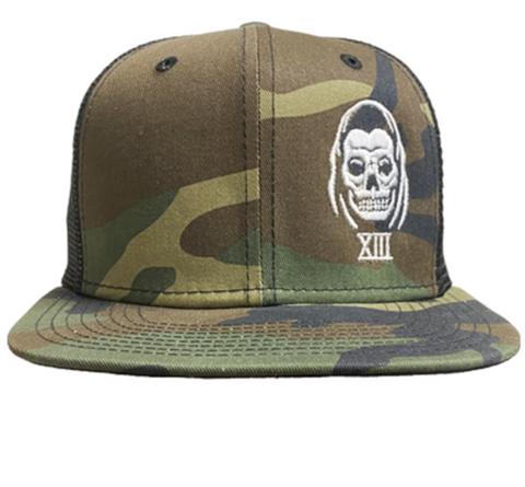 The SPEED REAPER Snapback Trucker Cap - CAMO/BLACK **NEW**