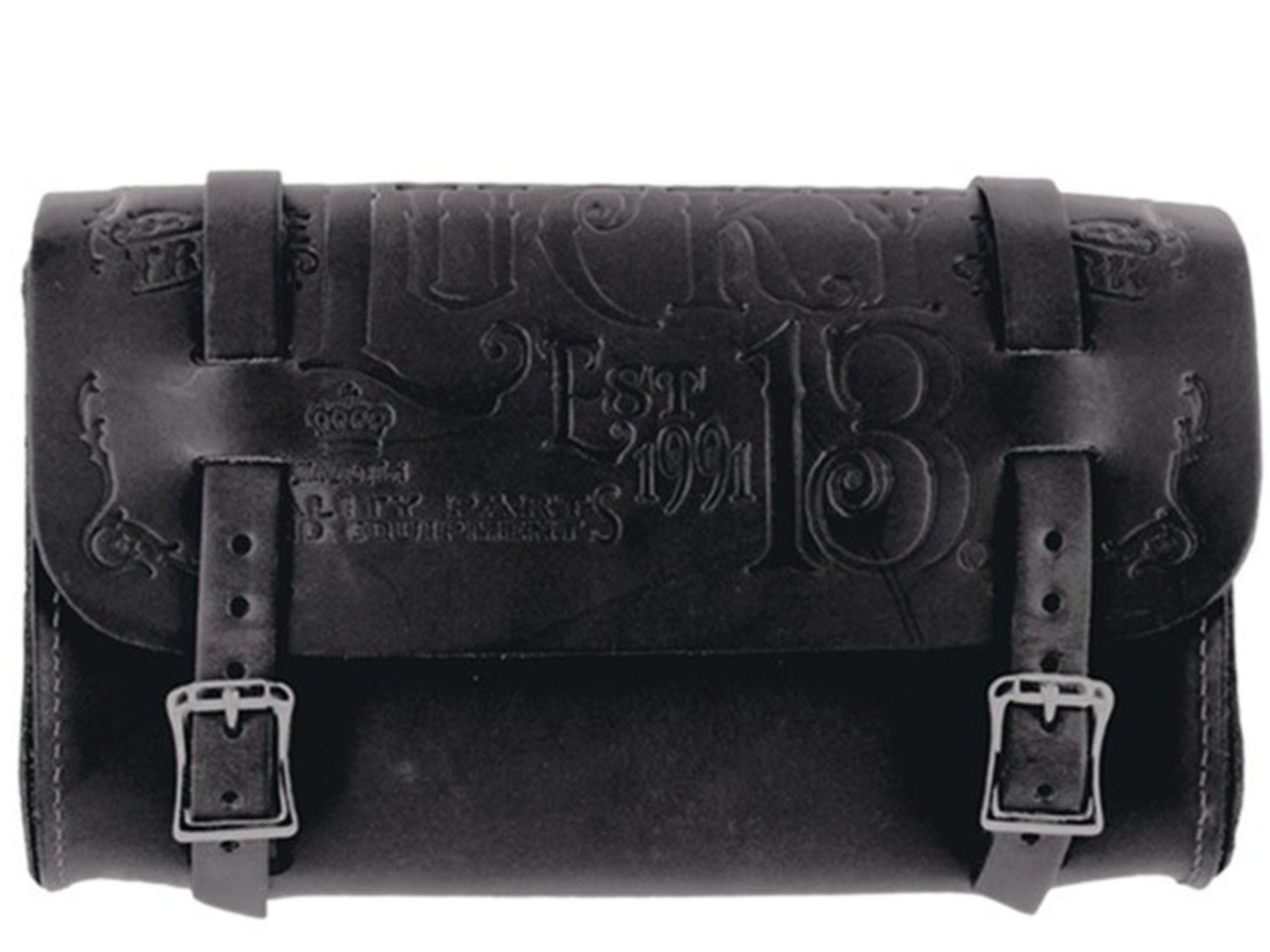 The MFG CO Embossed Leather Tool Pouch - BLACK