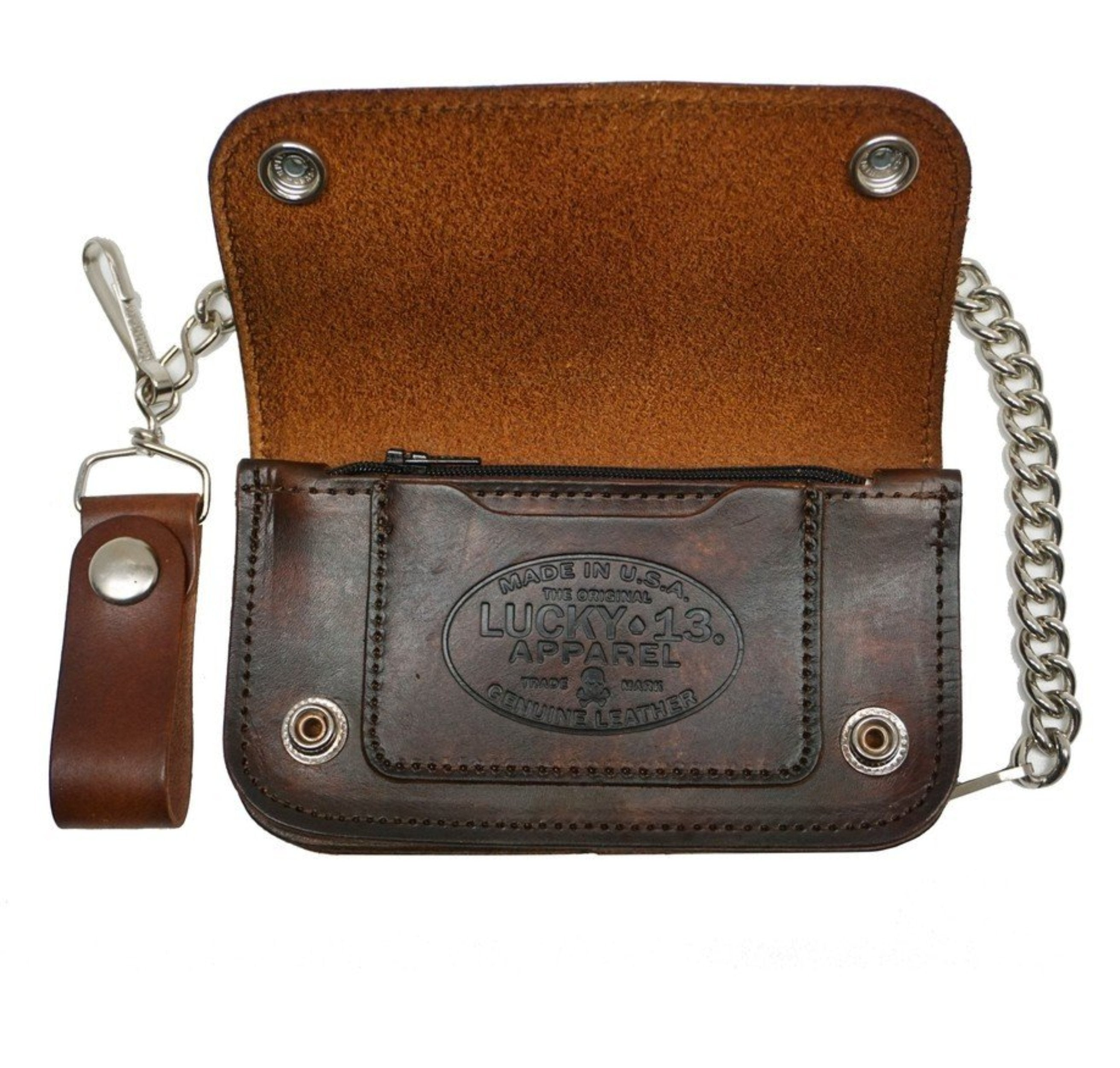 The LONE WOLF Wallet - ANTIQUED BROWN ** NEW **