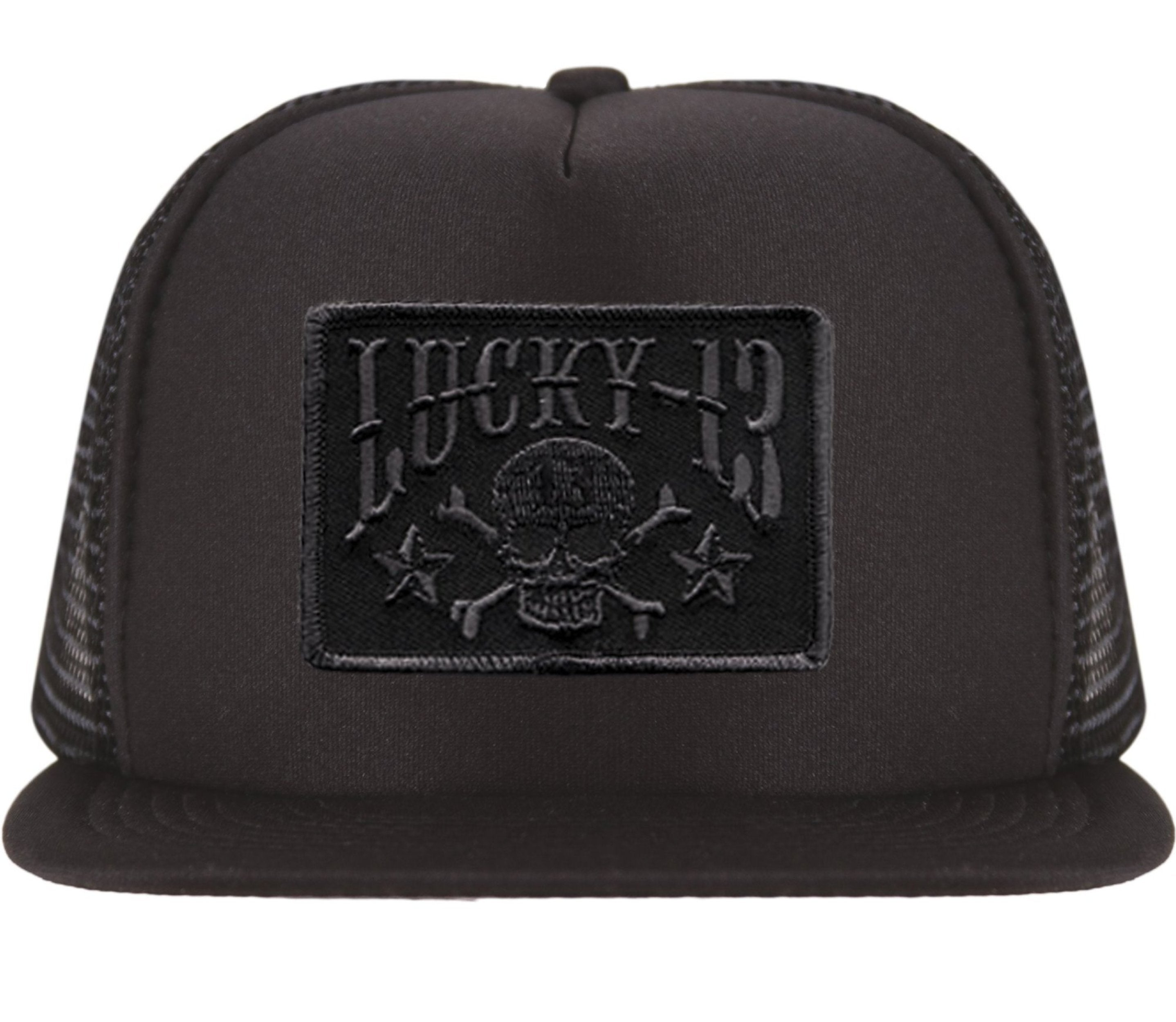 The SKULL STARS Flat Bill Trucker Cap