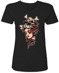 IN HER SKULL Women's Crew Neck Tee **NOW AVAILABLE IN 3XL**