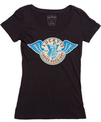 The LADIES AUXILIARY Scoop Neck Tee
