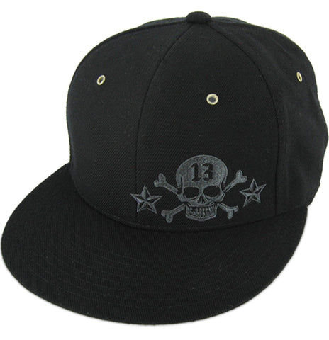 The SKULL THIRTEEN Metal Rivet Fitted Trucker Cap