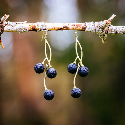 Black Currant Earrings