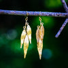 Weeping Willow Earrings - Gold Plated
