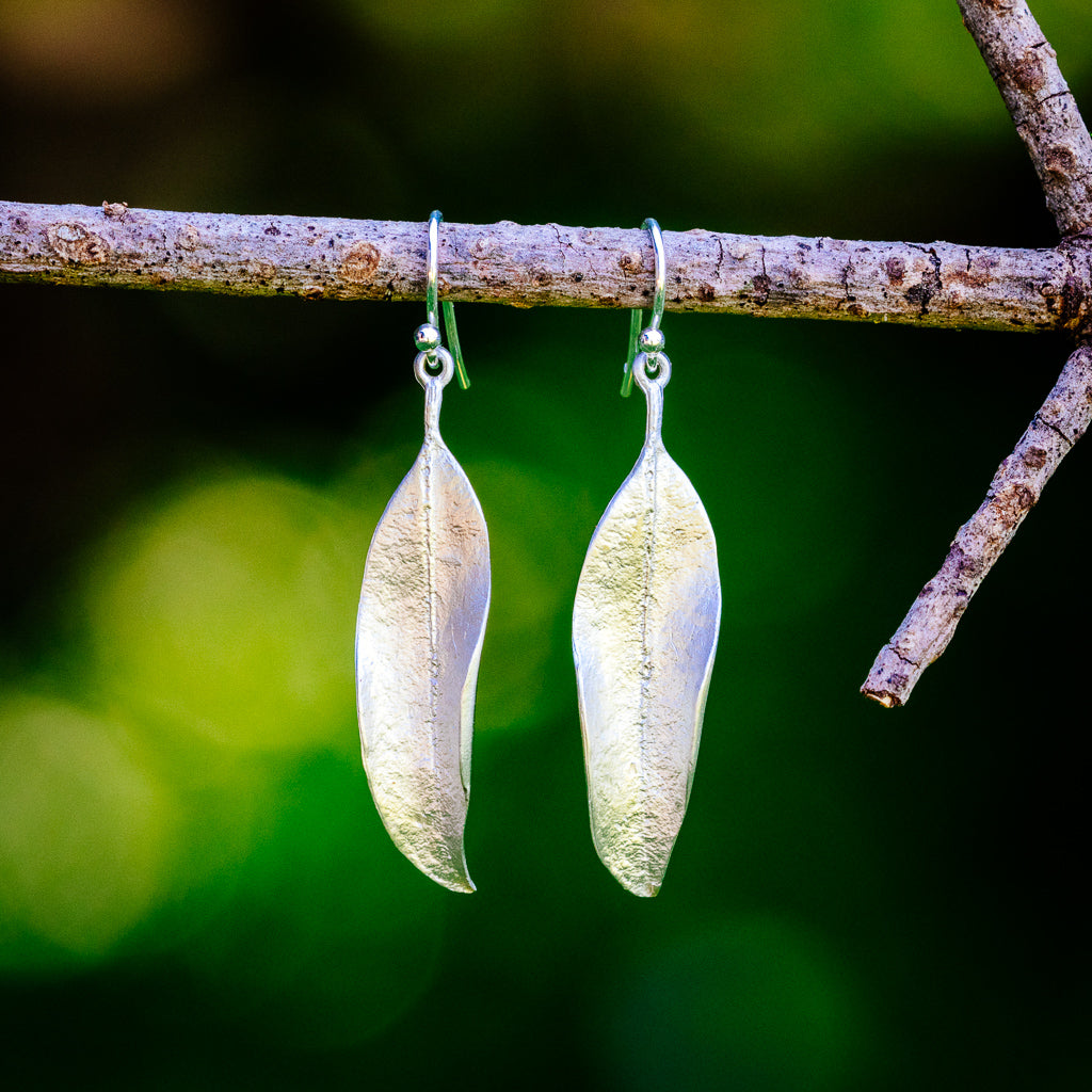 Eucalyptus Earrings - Silver