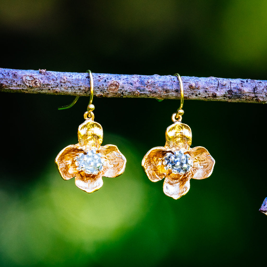Dogwood Earrings - Gold Plated
