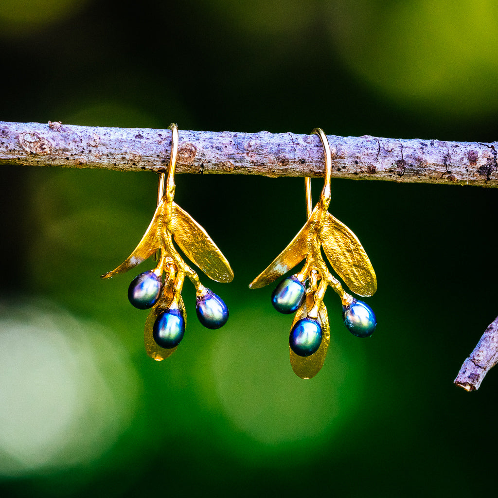 Olive Earrings - Gold Plated
