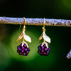 Raspberry Earrings - Gold Plated