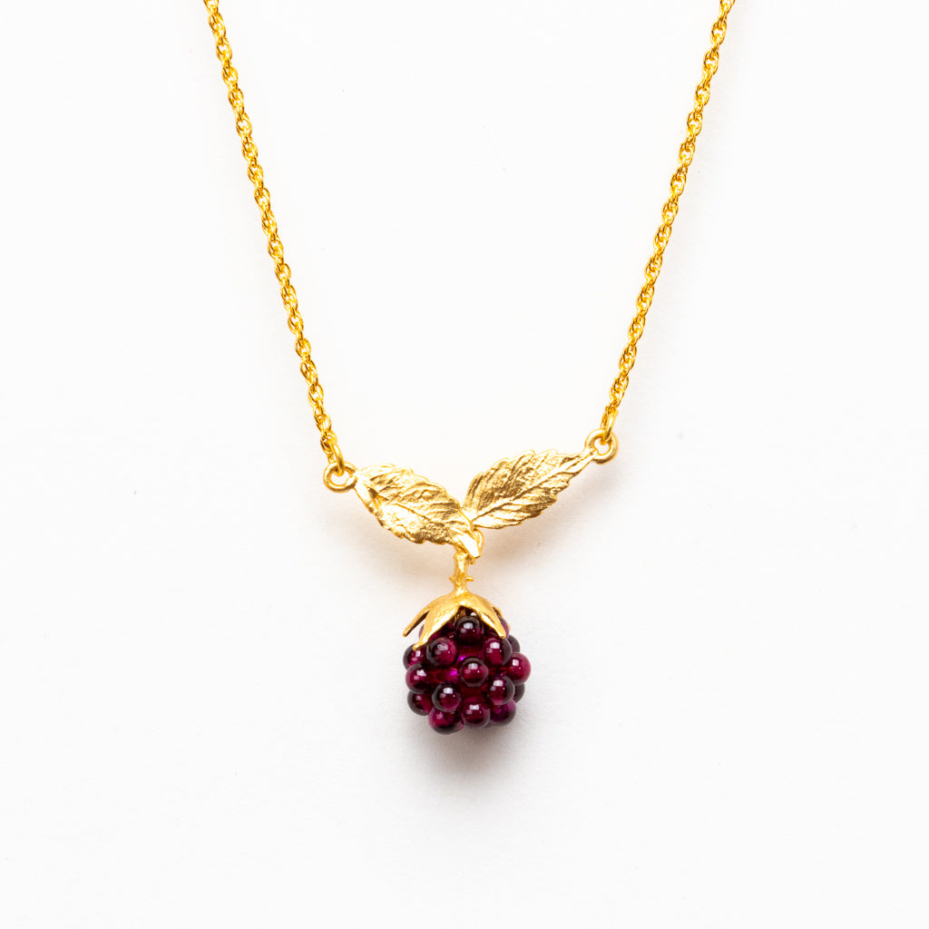 Raspberry Necklace - Gold Plated