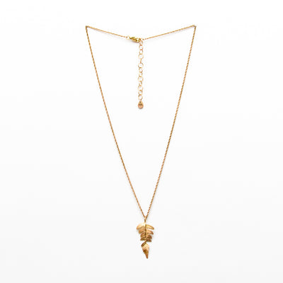 Fern Necklace - Gold Plated