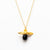 Bee Gemstone Necklace