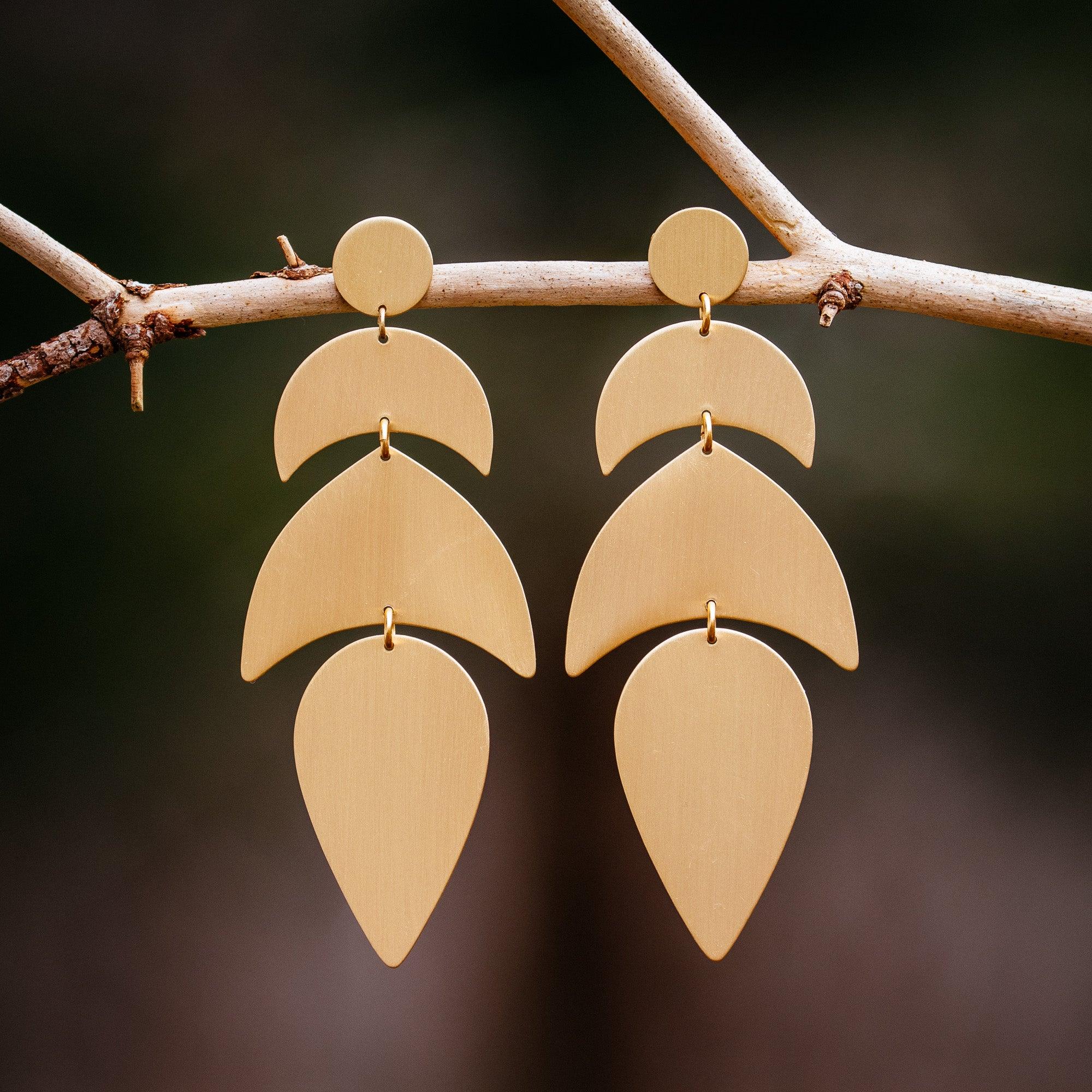 Satin Brass Earrings