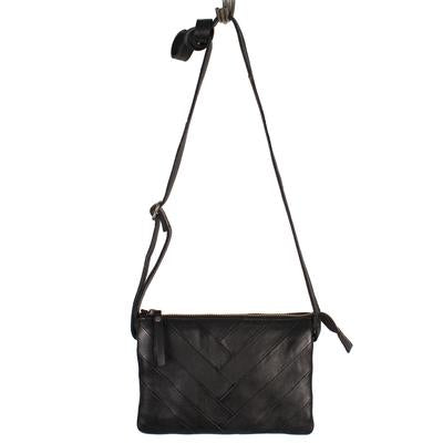 Cross body Leather V Handbag