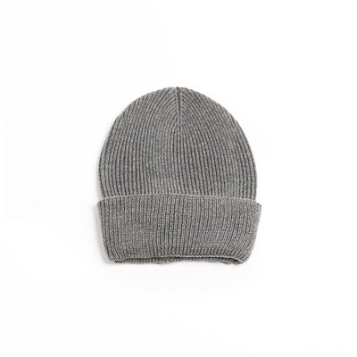 Cashmere Blended Basic Ribbed Beanie