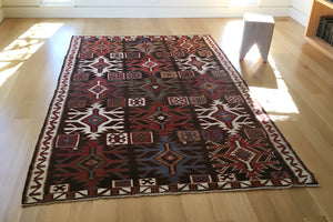 Red Blue Cream Kilim