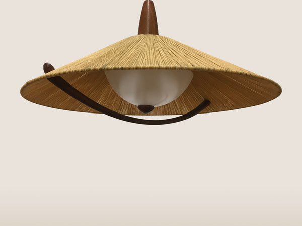 Vintage Teak Hanging Lamp SOLD