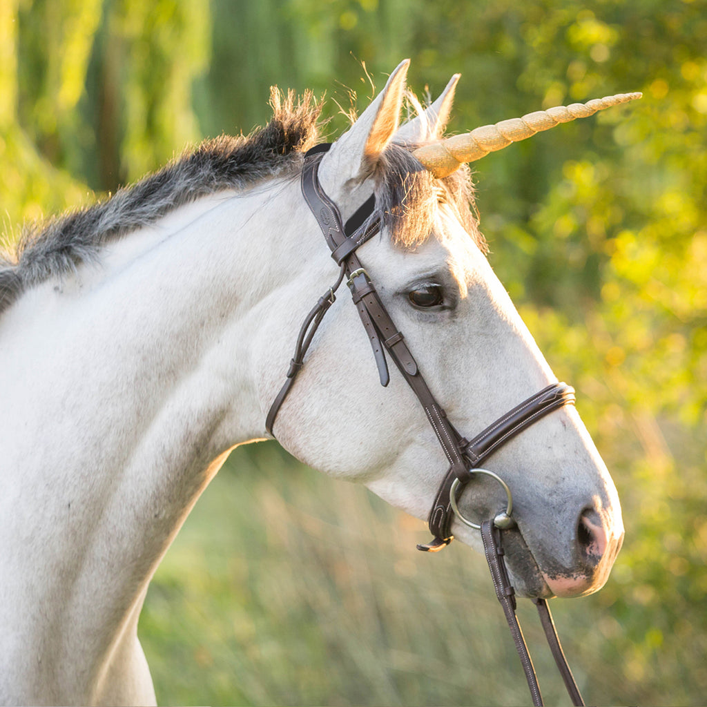 Silver Sparkle Unicorn Horn Horse Size by Brooklyn Owl