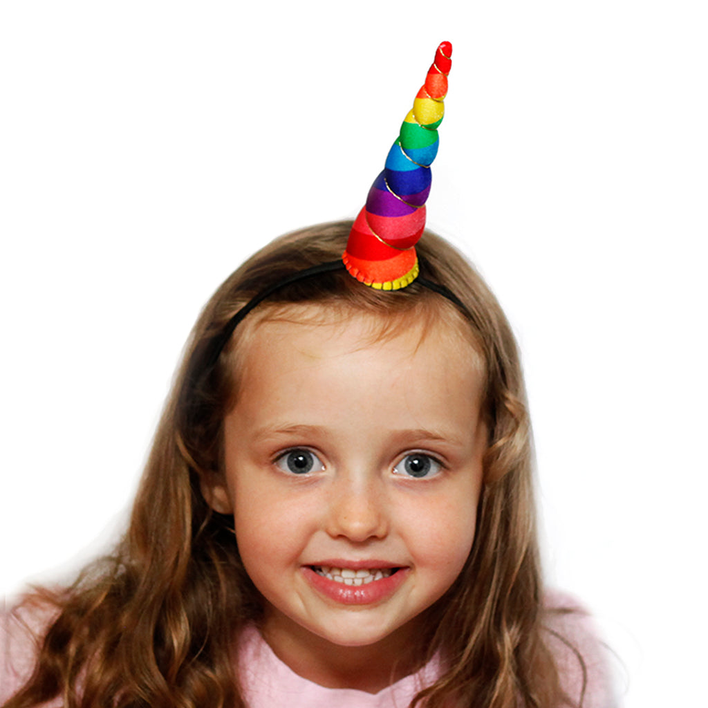 Rainbow Unicorn Horn Original Size by Brooklyn Owl
